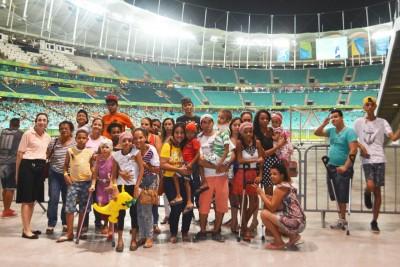 Pacientes prestigiam as Olimpíadas na Fonte Nova