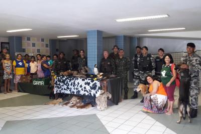 COPPA e Batalhão de Choque promovem atividade para as crianças