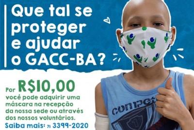 Máscara de proteção do GACC-BA: compre e ajude a nossa causa