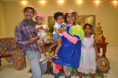 Pacientes celebram a chegada do São João